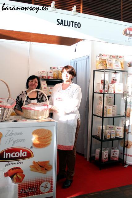 Stoisko Saluteo, producenta marki Incola (niestety, świeciło bardzo mocne słońce).