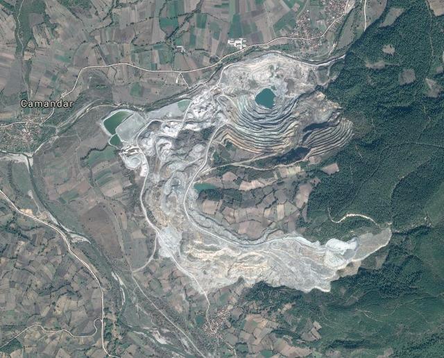 Kopalnia boraksu, Kestelek, Turcja (zdjęcie Google Maps).