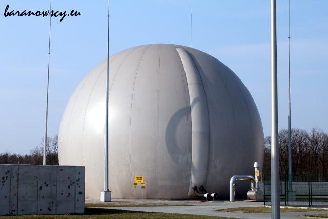 Zbiornik na biogaz.