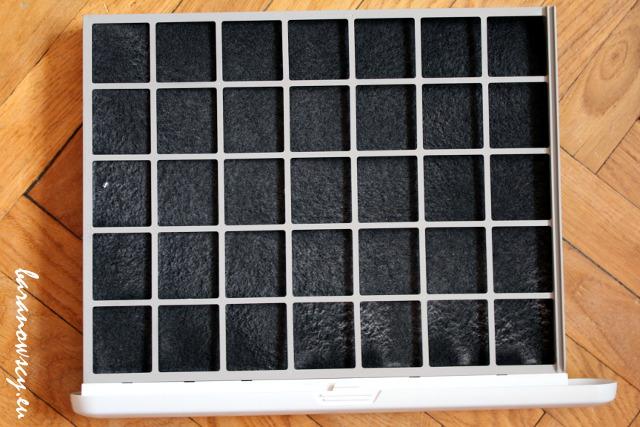 Filtr węglowy Fellowes po miesiącu używania.