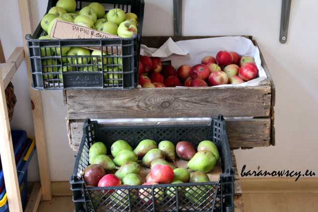 Pyszne gruszki i jabłka w sklepie koopu.