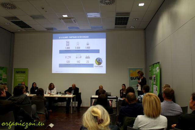 Wystąpienie Reginy Dicken z Fairtrade Austria