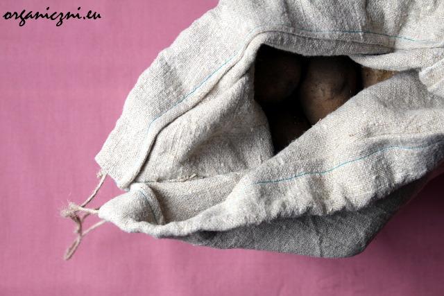 Lniany worek na ziemniaki