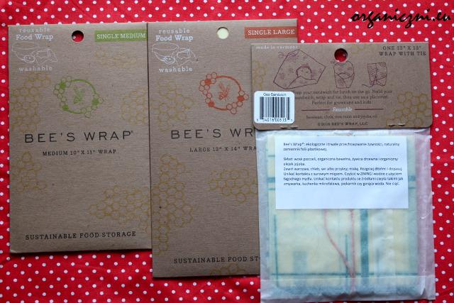 Bee's Wrap - 3 wersje: średnia (25 cm x 27,5 cm), duża (33 cm x 35 cm) oraz kanapkowa (33 cm x 33 cm)