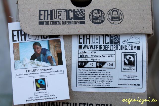Etyczne buty: opakowanie od trampek Ethletic