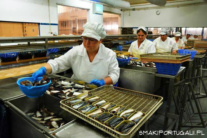 Marzena ze Smaków Portugalii pakuje sardynki i flety z makreli...