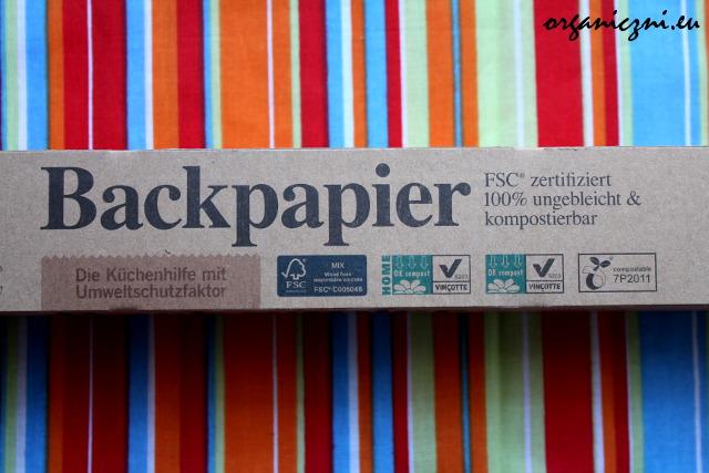 Biodegradowalny papier do pieczenia Backpapier