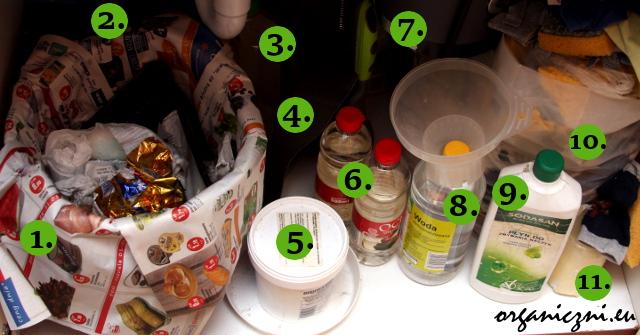 Kuchnia zero waste: pod zlewozmywakiem (kliknij zdjęcie, by powiększyć)