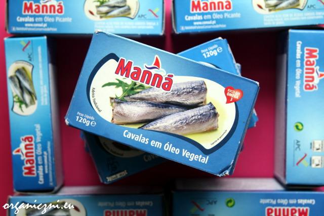 Portugalskie rybki w puszce Manna, bez BPA
