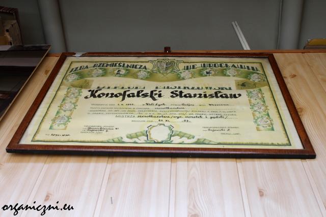 Dyplom mistrzowski Stanisława Konofalskiego