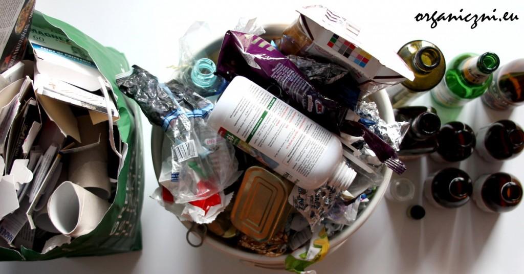 Styczniowe odpady, papier, plastik, metal, szkło
