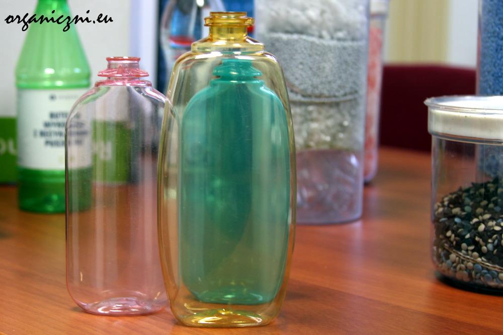 Butelki PET po kosmetykach