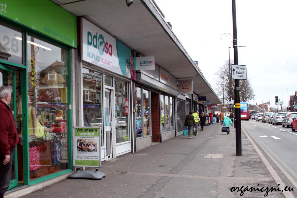 Zagłębie charity shopów w Birmingham