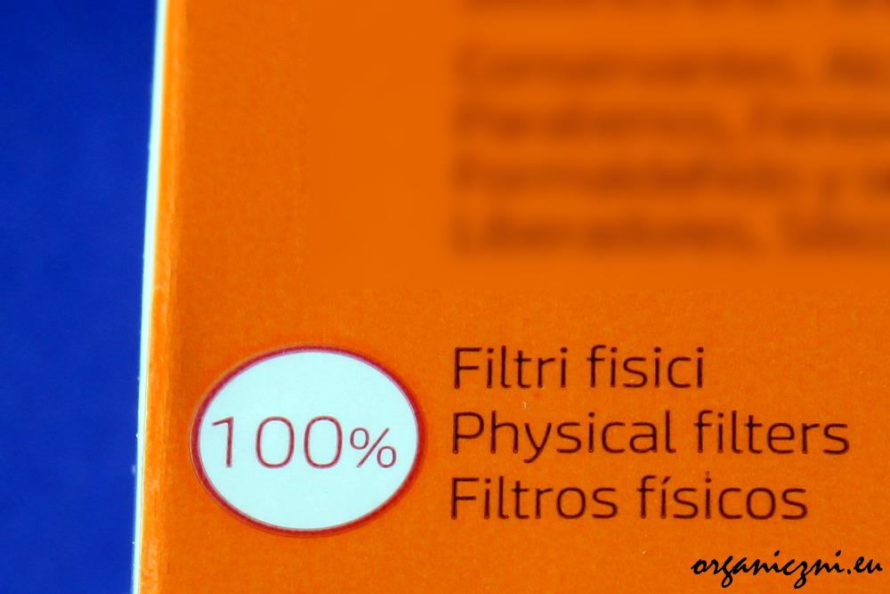Tylko filtry fizyczne (mineralne)