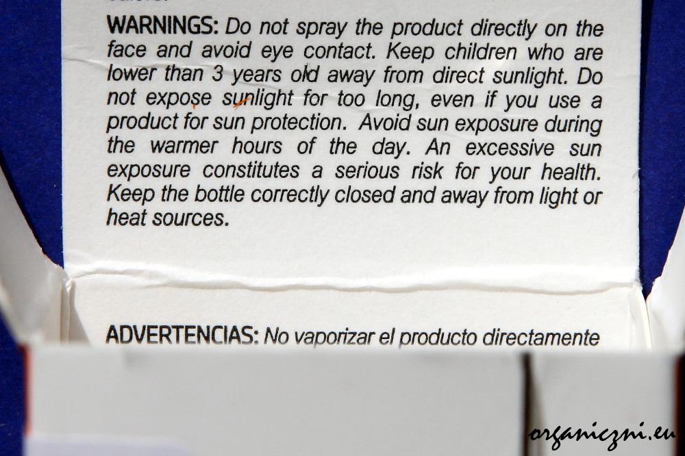 Obowiązkowe ostrzeżenie na kosmetykach do opalania sprzedawanych Unii Europejskiej
