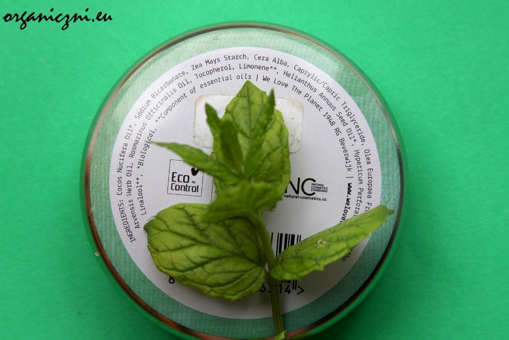 Skład dezodorantu We Love The Planet Mighty Mint