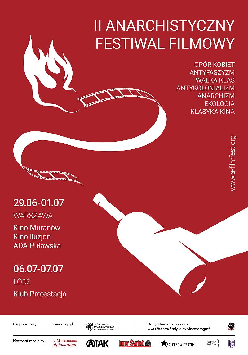 II Anarchistyczny Festiwal Filmowy, plakat