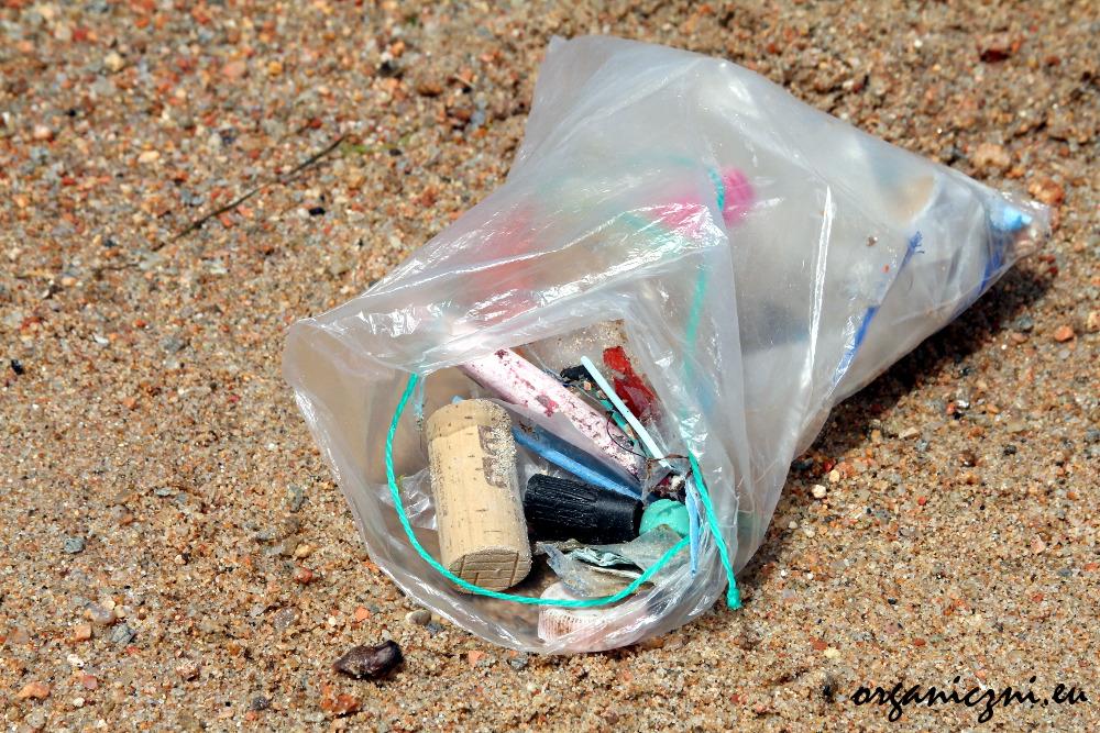 Raz przeszłam się po plaży i zebrałam śmieci