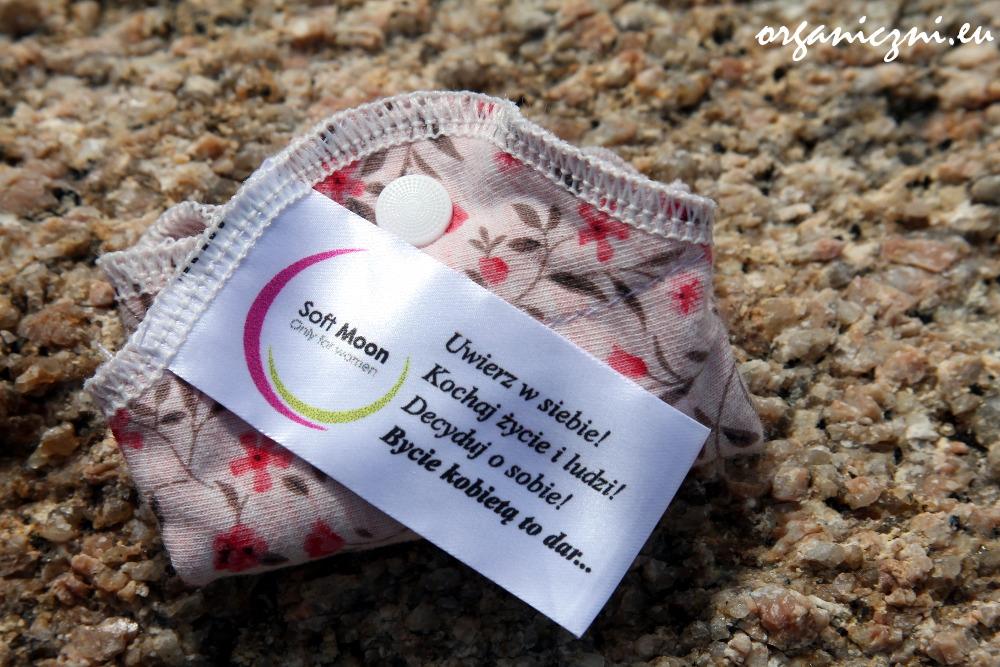 Wkładka higieniczna Soft Moon, bawełniana, z dwustronnym nadrukiem