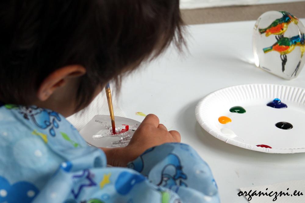 Malowanie na szkle, warsztaty w hucie Julia