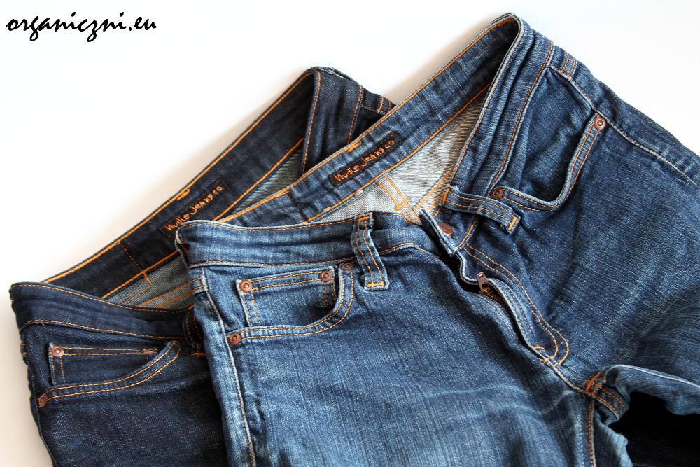Porównanie: ten sam model dżinsów nieprany i prany regularnie
