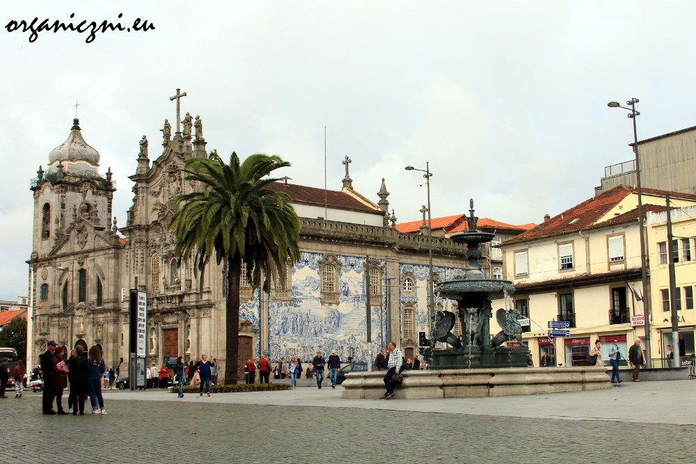 Porto, kościół św. Franciszka obok którego mieszkałam przez 2 noce