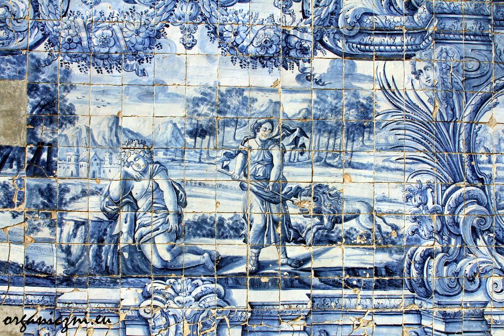 Azulejos w katedrze w Porto