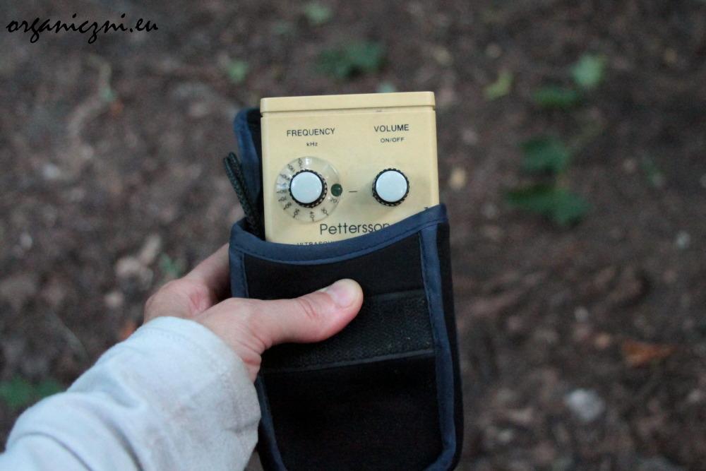 Urządzenie wychwytujące ultradźwięki, które wydają nietoperze, i zmieniające je na dźwięki słyszalne przez ludzi