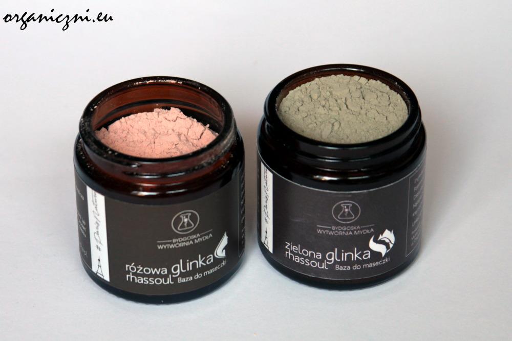 Glinki rhassoul, różowa i zielona