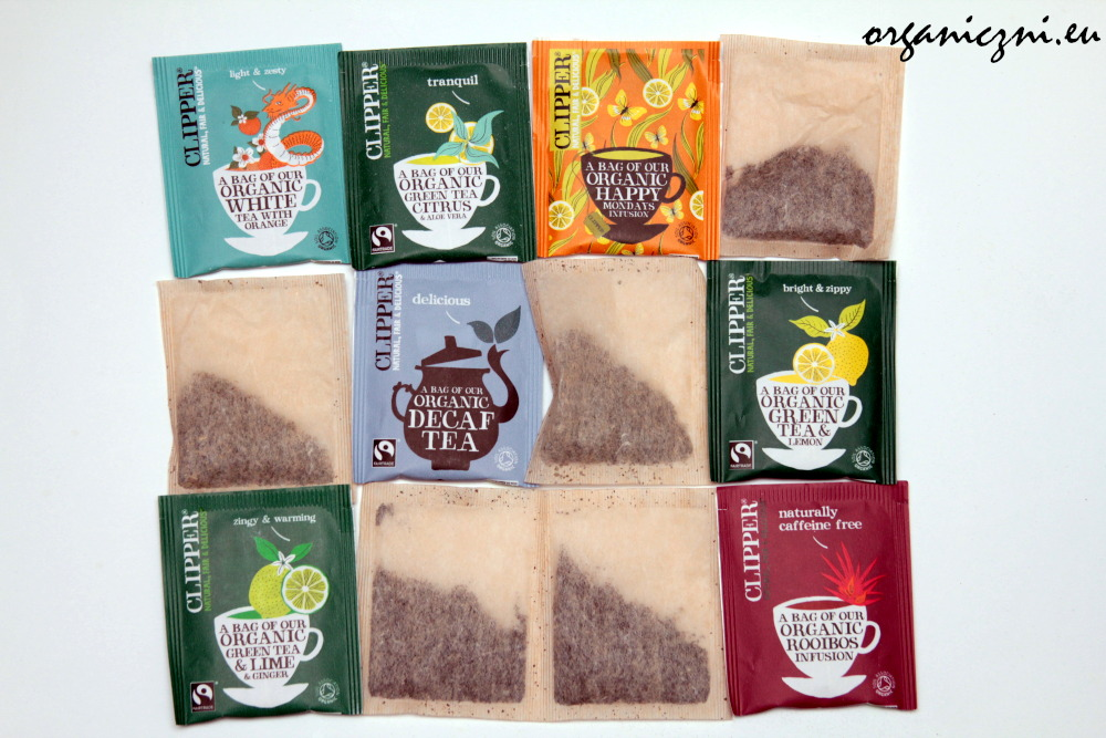 Torebki z herbatami Clipper