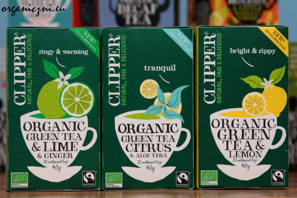 Wszystkie herbaty i herbatki Clipper są ekologiczne