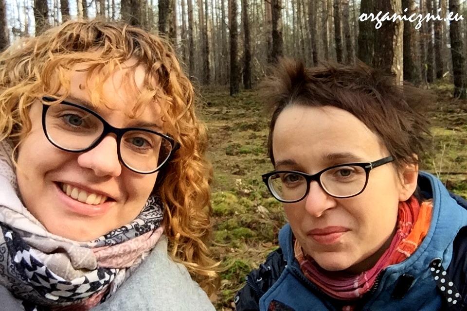 Monika i ja na zimowym spacerze